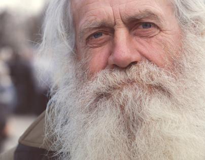 White beard. Old man. True Ukranian
