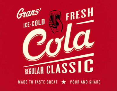 Grans Cola – packaging and bottle design