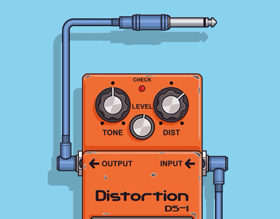 DS - 1 Boss, Pedal effect for guitar.
