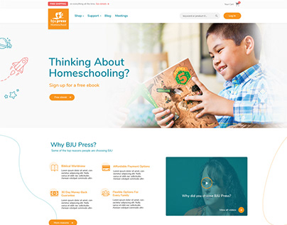 BJU Press Site Design - Before and After