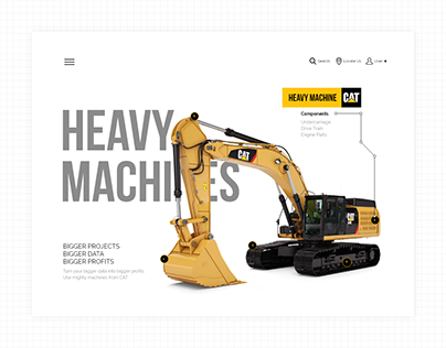 CAT Machines - UI Design