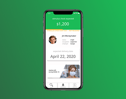 Stimulus Check app concept