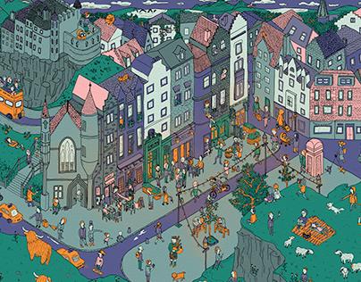illustration »Wimmelbild«