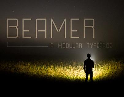 Beamer, a Modualr Typeface