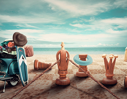 Life is a game photo mainpulation