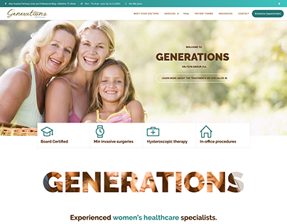 Generations - Wordpress