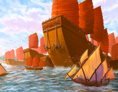 Historical Depiction: The Ming Treasure Fleet
