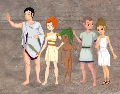 Personagens - João e o pé de Feijão