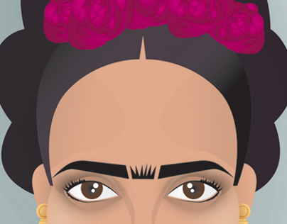 SALMA HAYEK as FRIDA KAHLO ILLUSTRATION