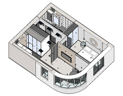 3D schemes made in Revit / project documentation