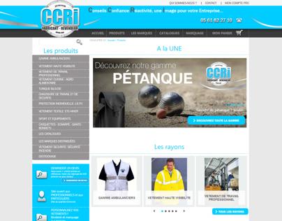 Web Design for professionnal clothes