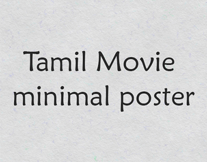 Tamil Movie minimal poster