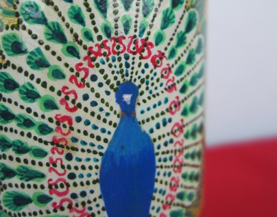 Hand-painted / Decoupage bottles