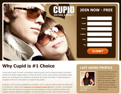 Top 10 converting dating landing page designs 2014