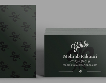 Gumbo business cards