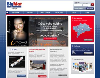 Web design for BigMat Camozzi