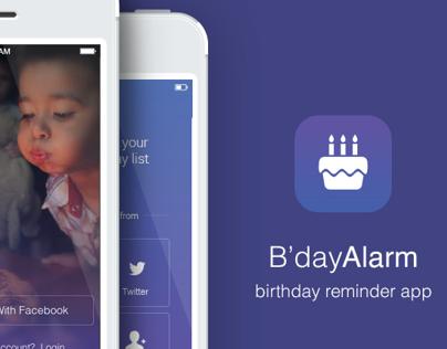 Birthday Reminder Iphone app
