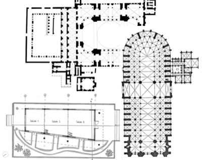 Arquitectura Bizantina vs. Gótica vs. Aula múltiple