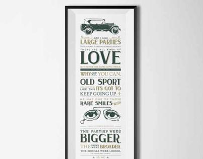 'Great Gatsby' Typographic Print