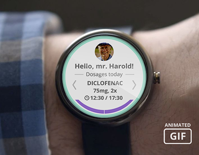 Health Reminder - app concept for smartwatch