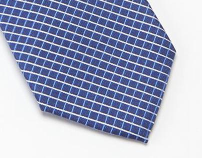 Van Heusen Traveler Tonal Gingham-Checked Tie