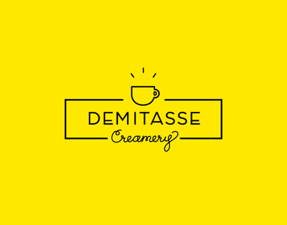 """Demitasse Creamery"" Identity + Packaging"