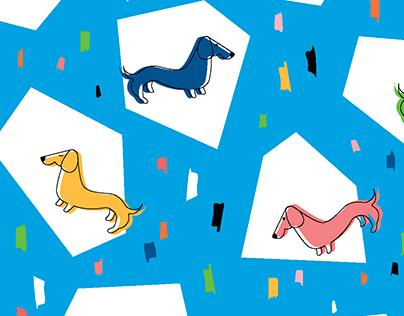 Retro Wiener Dogs