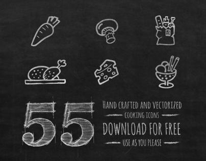 Cooking icons set - free