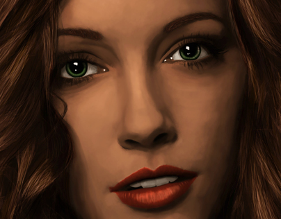 Katie Cassidy painting