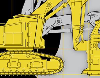 Caterpillar Diagram Illustration