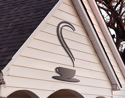 Whitehouse coffee shop logo and signage