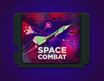 SPACE COMBAT - Scrolling shooter game concept