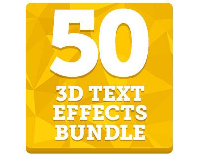 50 Creative 3D Text Effects