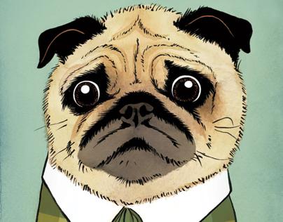 18 Mad Men dog portraits