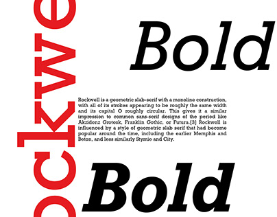 Rockwell Typeface Poster Design