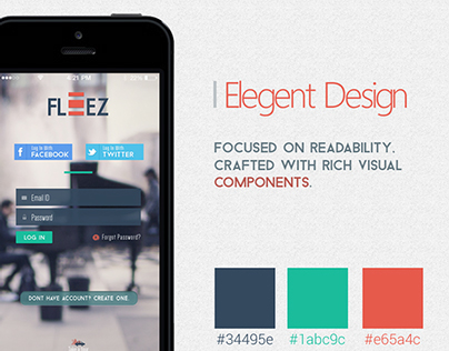 Fleez - Mobile App UI/UX Design