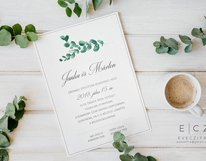 "Handpainted ""Greenery"" wedding invitations (2018-2019)"