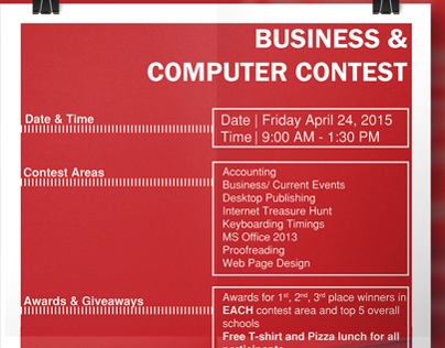 Business & Computer Contest Poster
