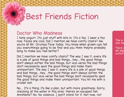 Best Friends Fiction's Site