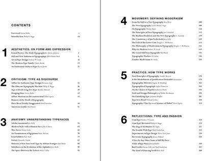 Table of Contents: The Elements of Typographic Style