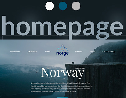 NORGE | Design for Tour Company