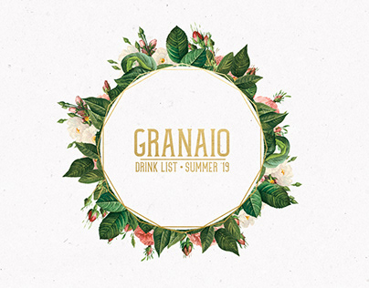 Granaio - Drink List - Summer '19