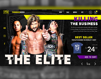 Young Bucks Wrestling E-commerce Website Design