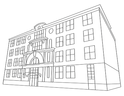 Vector Renderings of Copeland Hall