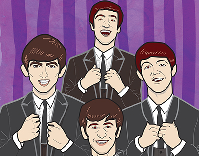 The Beatles! Illustrations for Esquire Philippines