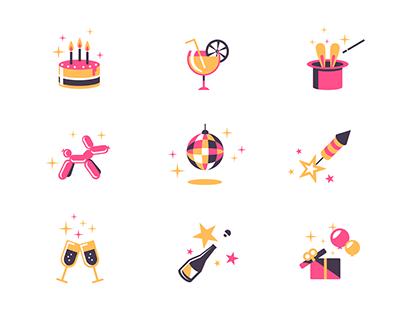 Icon set/ Party mix