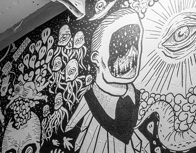 "Technoclub ""Graanbeurs"" Mural"