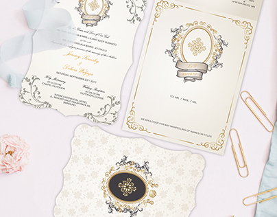 Berlian's invitation mockup