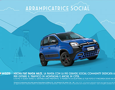 Affissione Montagna Fiat Panda Wave