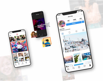 Template Photo Split + Editor (UX/UI for app)